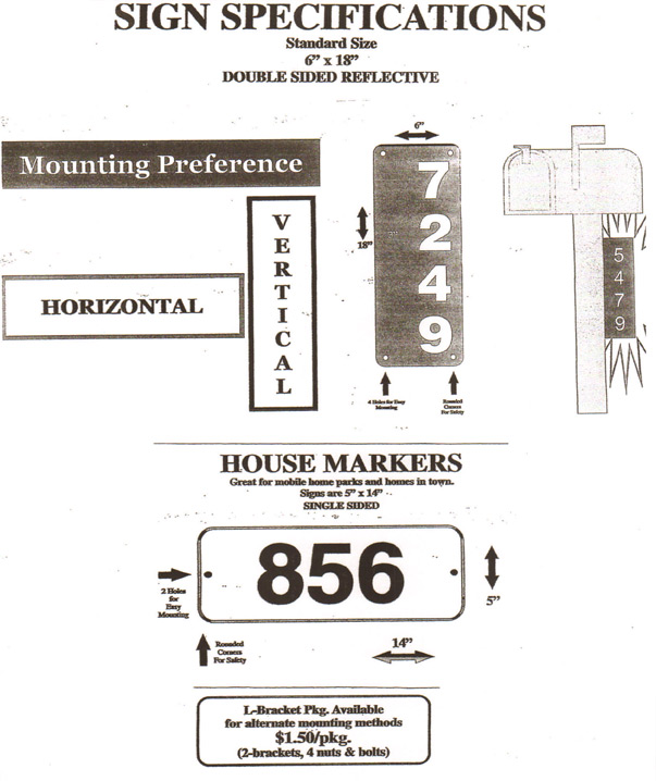 FireFreeFitch Reflective Address Sign Specifications